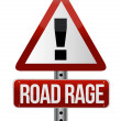 Road traffic sign with road rage concept — Stock Photo #12646597
