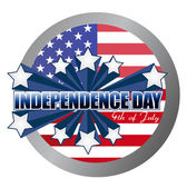 4th of july independence day seal illustration design — Stock Photo