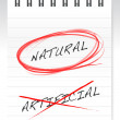 Chose natural over artificial illustration design — Stock Photo