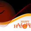 Dark halloween background illustration design over white — Stock Photo