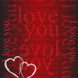 Xoxo hearts red love card illustration design — Stock Photo