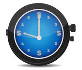 Watch with a dollar sign on the dial illustration — Stock Photo