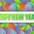 Happy new year colorful card background illustration design — Stock Photo