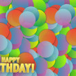 Happy birthday colorful card background illustration — Stock Photo