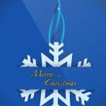 Christmas snowflake card pocket folder card — Stock Photo