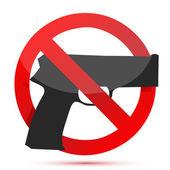 Guns are prohibited sign illustration design — Stock Photo