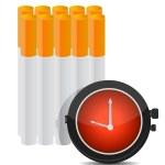 zaman kavramı illüstrasyon sigara durdurmak için — Stok fotoğraf