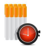 čas přestat kouřit koncept ilustrace — Stock fotografie