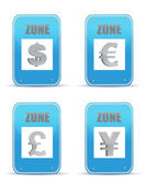 Currency zones symbol illustration design signs — Stock Photo