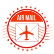 Royalty-Free Stock Photo: Air Mail stamp illustration design