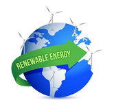 Renewal energy globe concept illustration design — Stock Photo