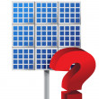 Royalty-Free Stock Photo: Question mark over a solar panel