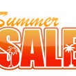 Stock Photo: Summer sale orange sign illustration design