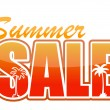 Summer sale orange sign illustration design — Stock Photo #13490173