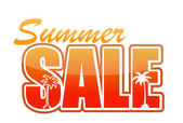 Summer sale orange sign illustration design — Stock Photo
