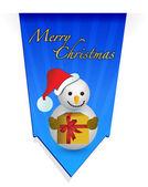 Schneemann-weihnachten-banner-abbildung — Stockfoto