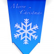 Merry christmas snowflake banner illustration — Stock Photo
