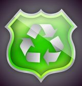 Green Glass recycle shield illustration design — Stock Photo