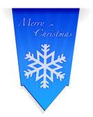 Merry christmas snowflake banner illustration — Stock Photo
