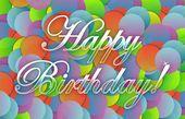 カラフルな誕生日カードのイラスト デザイン — ストック写真