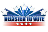 Register to vote illustration design — Stock Photo