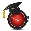 Stock Photo: Time for education illustration design