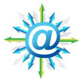 Symbole de courrier avec flèches — Photo