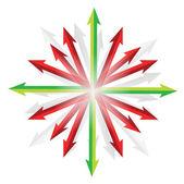 別の目的地に入る矢印 — ストック写真
