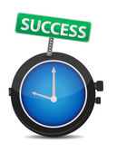 Time for success illustration design — Stock Photo