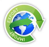 Exporter et importer l'illustration du cycle globe — Photo