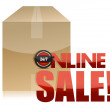 Online sale box illustration design - Stock Photo