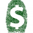 Dollar sign fingerprint illustration design — Stock Photo