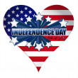 Independence day heart illustration — Stock Photo