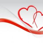 Loving hearts card illustration design background — Stock Photo