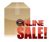 Online satış kutusu illüstrasyon tasarımı — Stok fotoğraf