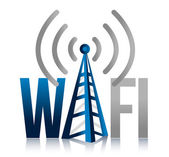 Wi fi Tower illustration design sign — Stock Photo