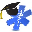Medical education symbol illustration — Stock Photo