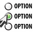 Stock Photo: Option 1 2 or 3 selection illustration