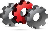 Unique gears illustration design — Stock Photo