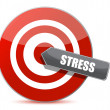 Target stress bulls eye illustration design — Stock Photo