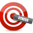 Stock Photo: Target stress bulls eye illustration design