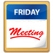 Calendar meeting illustration design — Stockfoto