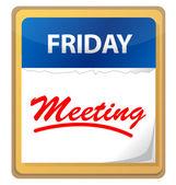 Calendário reunião design ilustração — Foto Stock