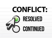 Conflict resolved question and answer selection — 图库照片