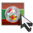 Christmas online button illustration design — Stock Photo