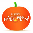 Foto Stock: Happy halloween pumpkin illustration design