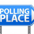 Stock Photo: Polling place sign illustration design