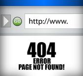 404 error page not found browser illustration — Stock Photo