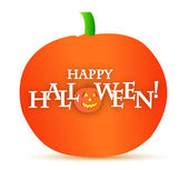 Happy halloween pumpkin illustration design — Stock Photo