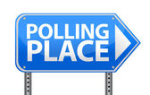 Polling place sign illustration design — Stock Photo